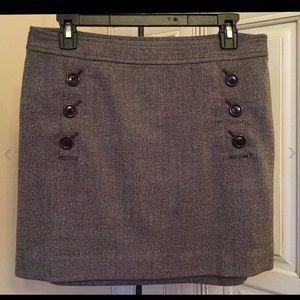Banana Republic Brown Tweed Wool Blend Skirt - 6